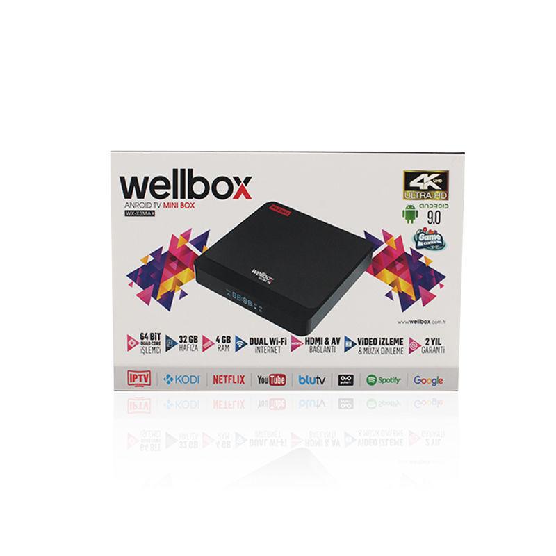 Wellbox X3MAX 4K Ultra HD Android Tv Box resmi