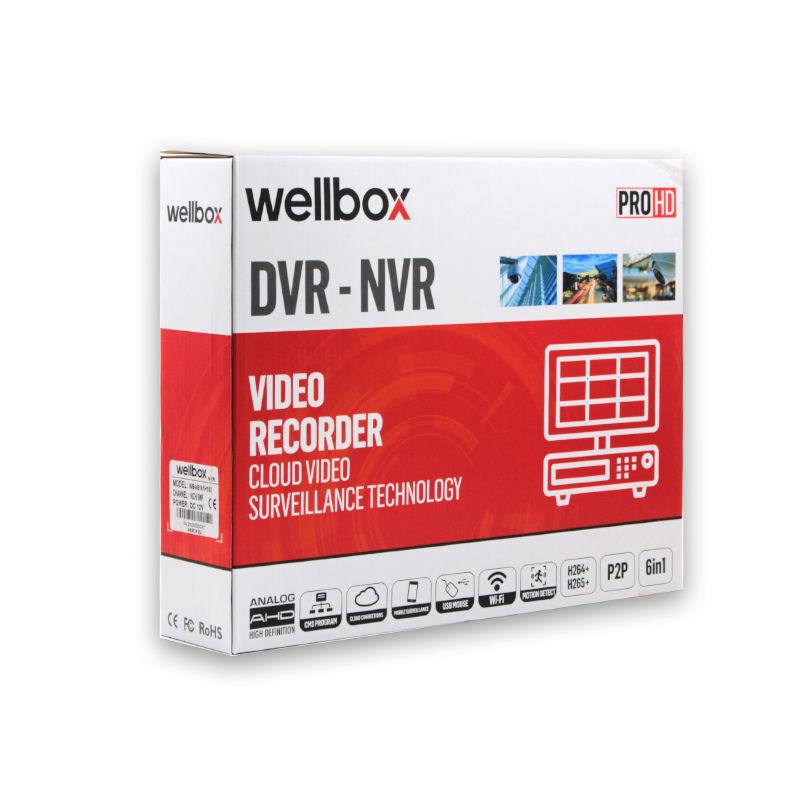 WELLBOX WB-N5161H16S 16 KANAL NVR 5MP resmi