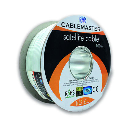 CABLEMASTER CM-104 80 TEL RG6 U4 EXTRA BAKIR KOAKSİYEL KABLO resmi