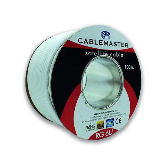 CABLEMASTER CM-103 64 TEL RG6 U4 BAKIR ALAŞIMLI MEDIUM PLUS KOAKSİYEL KABLO resmi